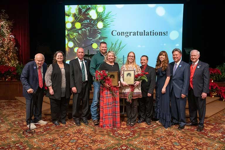 Morris and Powell win Life Care's Danette Henry Servant Leader Award